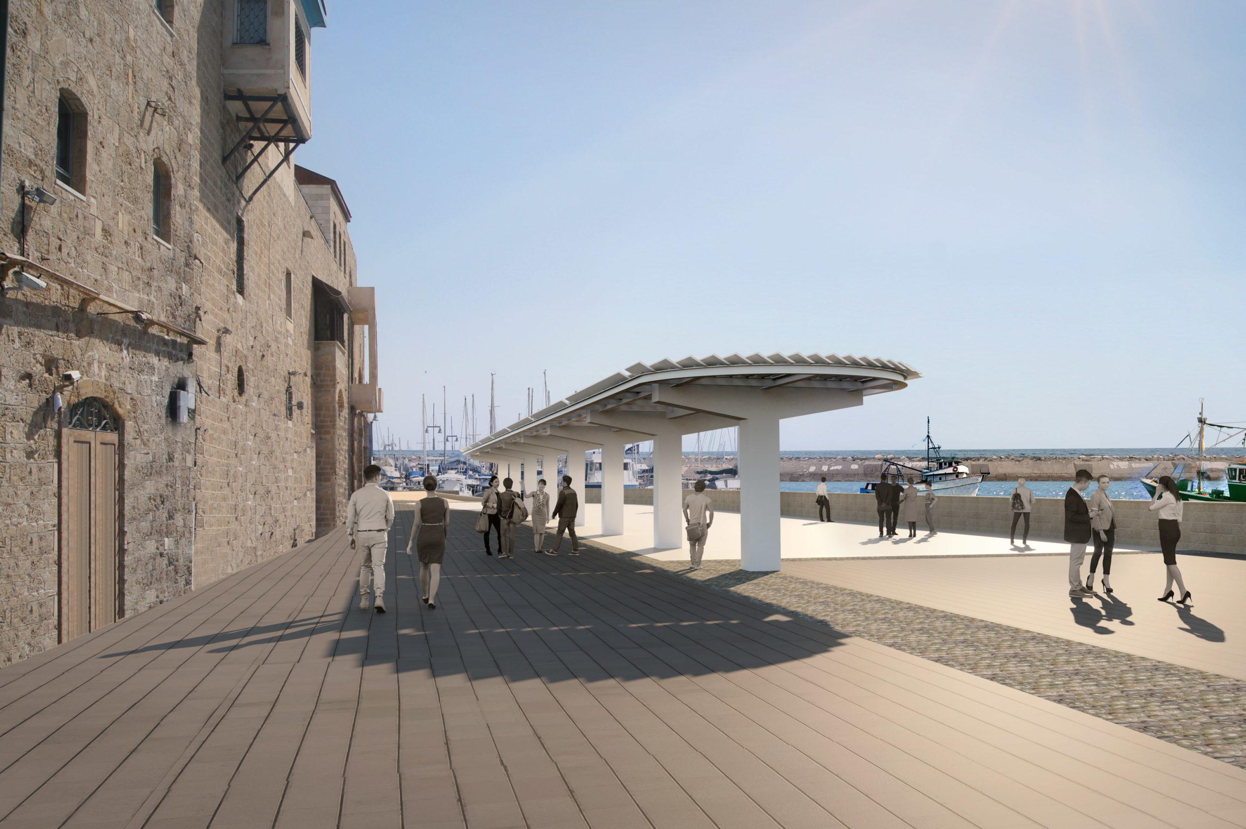 עיצוב נוף לכניסה הצפונית של נמל יפו